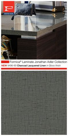 Part Of The Highly Aned Formica Laminate Jonathan Adler Collection 9496 90 Charcoal Lacquered
