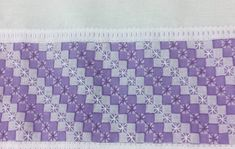 Purple Gingham embroidered with Chicken Scratch in a diagonal design Swedish Embroidery, Hardanger Embroidery, Hand Embroidery, Creative Crafts, Diy And Crafts, Bordado Tipo Chicken Scratch, Chicken Scratch Embroidery, Christmas Cross, Homemade Gifts