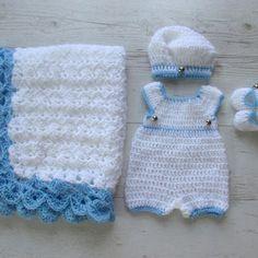 newborn boy romper crochet free pattern - Recherche Google                                                                                                                                                      More