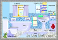 english kid extraordinary in the bathroom English House, English Study, English Class, English Words, English Lessons, English Grammar, Teaching English, Learn English, English Language