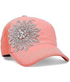 Olive  Pique Bling Hat at Buckle.com could make something like this cheap