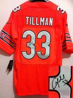 Nike Bears  33 Charles Tillman Orange Alternate Men s Embroidered NFL Elite  Autographed Jersey! Only  25.00USD 4cadb361a