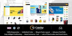Buy Catchy - Multipurpose WooCommerce Theme by TemplateMela on ThemeForest. Catchy is wordpress ecommerce theme based on WooCommerce plugin. This theme suitable for mega shop, electronic, jewe. Best Templates, Website Themes, Best Wordpress Themes, Wordpress Plugins, Website Template, Ecommerce, Medical, Jewellery, Store