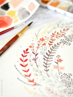 Beautiful watercolor by Eva Juliet via Mon Carnet