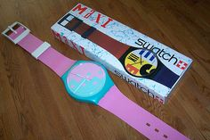 Swatch watches. I lost my first one, babysit bratty kids for months to earn enough to replace it (the exact same leopard print one), then dropped it the next day only to have it run over by a school bus! LOL! So, yep, I babysat some more and bought the third one.