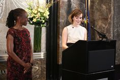 Emma Watson Photos - (L-R) First Lady of New York City, Chirlane McCray and actress Emma Watson light The Empire State Building In HeForShe Magenta For International Women's Day at The Empire State Building on March 8, 2016 in New York City. - Emma Watson and Chirlane McCray Light The Empire State Building in HeForShe Magenta For International Women's Day
