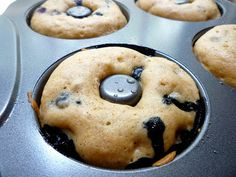 What's Baking in the Barbershop?!: Baked Blueberry Cake Donuts