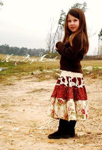 Girls Skirt Pattern Gypsy Skirt Sewing Tutorial by ThorsGarden, $10.50