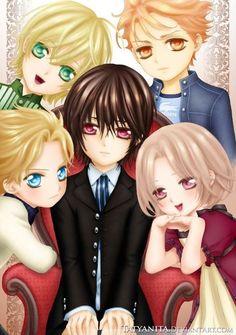 The Whole Night Class Gang (Boys) Kaname, Ichijo, Kain, Aido, and Ruka or Luca