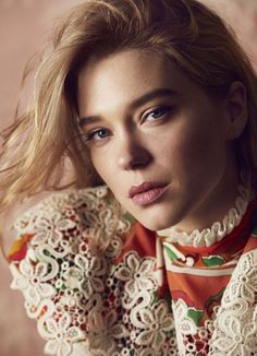 French actress Léa Seydoux poses in bold prints and blooms from Louis Vuitton for Harper's Bazaar UK April 2020 Lea Seydoux, Adele Exarchopoulos, Sam Mendes, French Beauty, Russian Beauty, Christy Turlington, French Actress, Agent Provocateur, Harpers Bazaar
