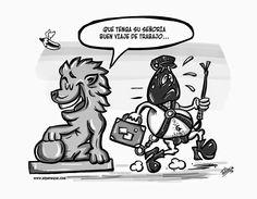 EN ESOS DÍAS DE... VIAJES DE TRABAJO | ELPENEQUE DIBUJO Y CARICATURAS