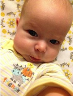 This fierce baby who should definitely be a model. | 22 Babies Who Discovered Selfies
