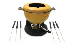 Lucerne 10Piece Meat Fondue Set Yellow Enameled Pot *** Check this awesome product by going to the link at the image. (Amazon affiliate link)