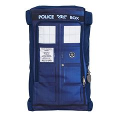 Doctor Dr. Who Tardis Police Box Backpack  - If only you could climb inside and transport yourself out of class... #DoctorWho #BackpackStyle #backtoschool
