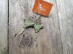 Micro macramé earrings boho jewelry macrame par creationsmariposa, $27.00