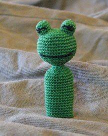 Green Frog - Finger Puppet - Free Pattern