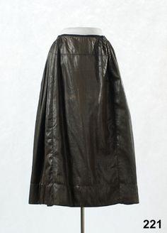 Kjol i glättad yllekypert, Oxie, 1775-1825. Nordiska Museet, nr. NM.0000221
