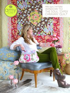 Amy Butler Design: Gypsy Caravan quilt - love the simplicity of this FREE fat quarter pattern :)