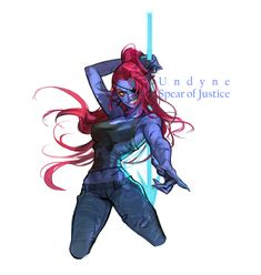 ArtStation - UNDERTAIL . Undyne - Spear of Justice, Monable .