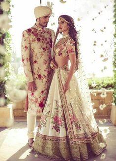 Sabyasachi Lehenga is one brand, that does not need an introduction. Sabyasachi Lehenga You might have seen a Sabyasachi bridal lehenga getting adorned by Sabyasachi Lehenga Bridal, Bridal Lehenga Online, Floral Lehenga, Ghagra Choli, Anarkali, Couple Wedding Dress, Vogue Wedding, Indian Wedding Outfits, Indian Outfits
