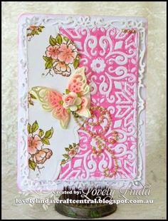 Embossing Folder Card with die cut side panel.