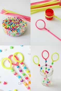 Craft: Pipe Cleaner Bubble Wands & Bubble Table DIY Bubble Wand Tutorial Craft for Kids The post Craft: Pipe Cleaner Bubble Wands & Bubble Table appeared first on Monica& Secret World. Crafts For Teens, Diy For Kids, Crafts For Kids, Arts And Crafts, Diy And Crafts Sewing, Crafts To Sell, Sell Diy, Bubble Party, Pipe Cleaner Crafts