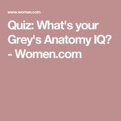 Quiz: What's your Grey's Anatomy IQ? - Women.com