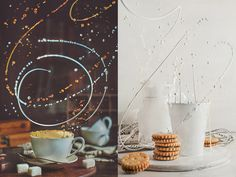 Spilled milk: still life with twisted splashes on Behance