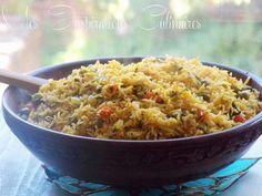 Rouz jerbi {Riz djerbien a la vapeur} Gluten Free Cooking, Fried Rice, Fries, Pasta, Dishes, Ethnic Recipes, Samar, Direction, Ajouter