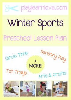 'Winter Sports' Lesson Plan : Preschool and Toddler Winter Themed Activities