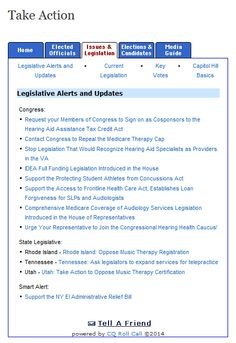 Have you taken action lately? See ASHA's legislative alerts and updates.
