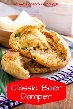 Classic Beer Damper - Stay at Home Mum Camp Oven Recipes, Bakery Recipes, Cooking Recipes, Bread Recipes, Healthy Recipes, Aussie Food, Australian Food, Fire Cooking, Oven Cooking