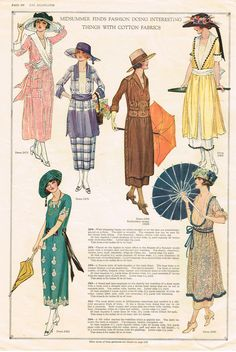 1920's dress style and silhouette, delineator 1917 - nice!