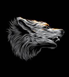 Inksyndromeartwork - Freepik Wedding Badges, Wolf Illustration, Hipster Logo, Typography Logo, Werewolf, Black Backgrounds, Mammals, Lion Sculpture, Drawings