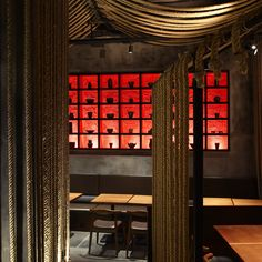 Shanghai restaurant takes its cue from Tarantino. Bar Interior, Restaurant Interior Design, Interior And Exterior, Japanese Restaurant Design, Restaurant Hotel, Casa Loft, Chinese Interior, Restaurants, Asian Design