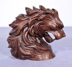 This solid walnut head of a lion dates to the mid to late 1800's. It was originally a trim piece on a French piece of furniture. It is in very good antique condition with only minor nicks and scratches. | eBay!