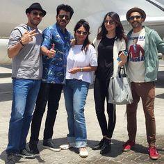 Ranveer Singh, Anil Kapoor, Shefali Shah, Anushka Sharma and Ritesh Sidhwani promoting 'Dil Dhadakne Do' in Dubai. #Bollywood #Fashion #Style #DilDhadakneDo #Beauty #Handsome #Instagram