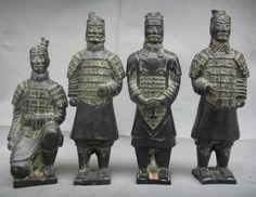 Ancient Chinese Warriors - China has a long history of armour & weapons development. China has many varieties of armour, but the most were of the lamellar, coat of plates, brigandine & scaled varieties. Initially, armour was exclusively for nobles. The majority of noblemen fought mounted on war chariots, so the weight of the armour was not a major factor in its construction. Shields were used by both infantry and cavalry.