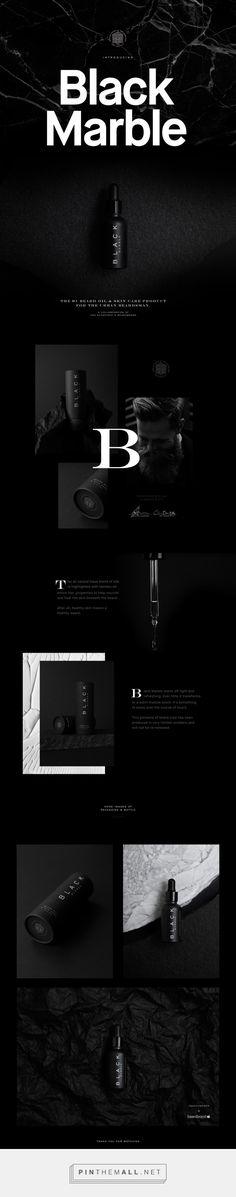 Black Marble Beard Oil Branding and Packaging by Tobias Van Schneider   Fivestar Branding Agency – Design and Branding Agency & Curated Inspiration Gallery