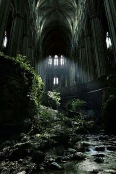 Abandoned cathedral in France