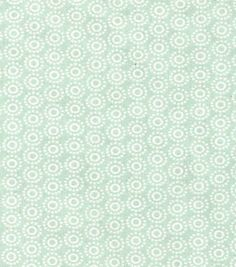 Keepsake Calico™ Cotton Fabric-Dotted Circles On Light Green