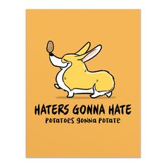 Haters Potaters Corgi Card from GiveAFluff.com.