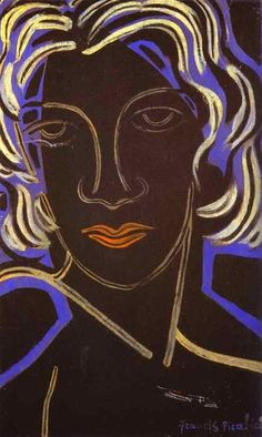 Francis Picabia, Face of a Woman, 1936