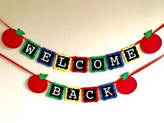 Welcome Back Banner Welcome Banner First Day of School Apple Classroom, Classroom Banner, Classroom Welcome, Classroom Decor, Welcome Back Banner, Welcome To The Party, Welcome Back Boards, Elementary Bulletin Boards, Back To School Bulletin Boards