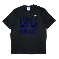 a0807bb6e43 Lacoste LIVE Crew Neck Lettered Tee Black
