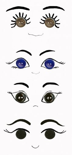 ideas for eyes using buttons- great reference and ideas  : )