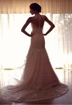 Dayana Mendoza's wedding dress, by Venezuelan designer Ángel Sánchez. Credit: Fran Beaufrand, Elite Model Look Venezuela.
