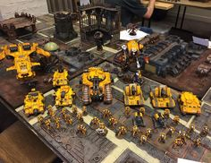 Tom's Imperial Fists, one of the best armies at the event, and my round 1 opponent! #hardforheresy #warhammer #warhammer30k #imperialfists #actofheresy