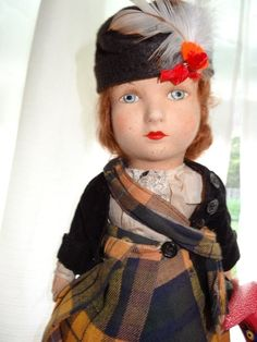 """REDUCED AGAIN 17"""" CHAD VALLEY SCOTTISH GIRL, VERY GOOD CONDITION"""