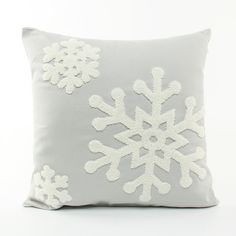Christmas Snowflake Canvas Embroidery Snowman Sofa Cushion Cover P... ($12) ❤ liked on Polyvore featuring home, home decor, holiday decorations, array0x1240f8a0, christmas home decor, canvas home decor, christmas holiday decorations, christmas holiday decor and snowman home decor